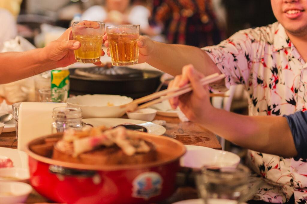 Drinks in a Korean BBQ | BBQanswers