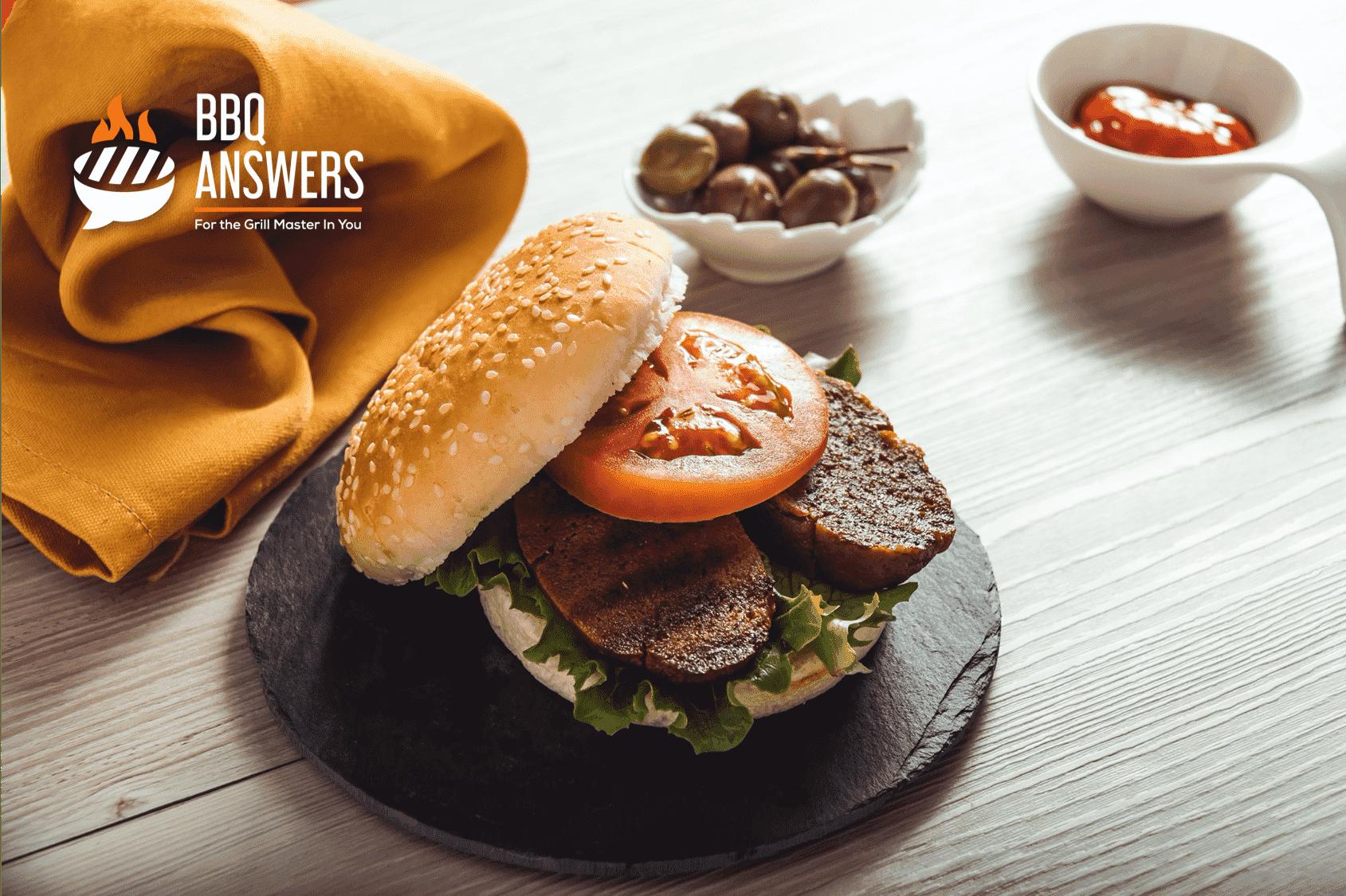 Vegan BBQ Chicken Burger   Seitan   BBQanswers