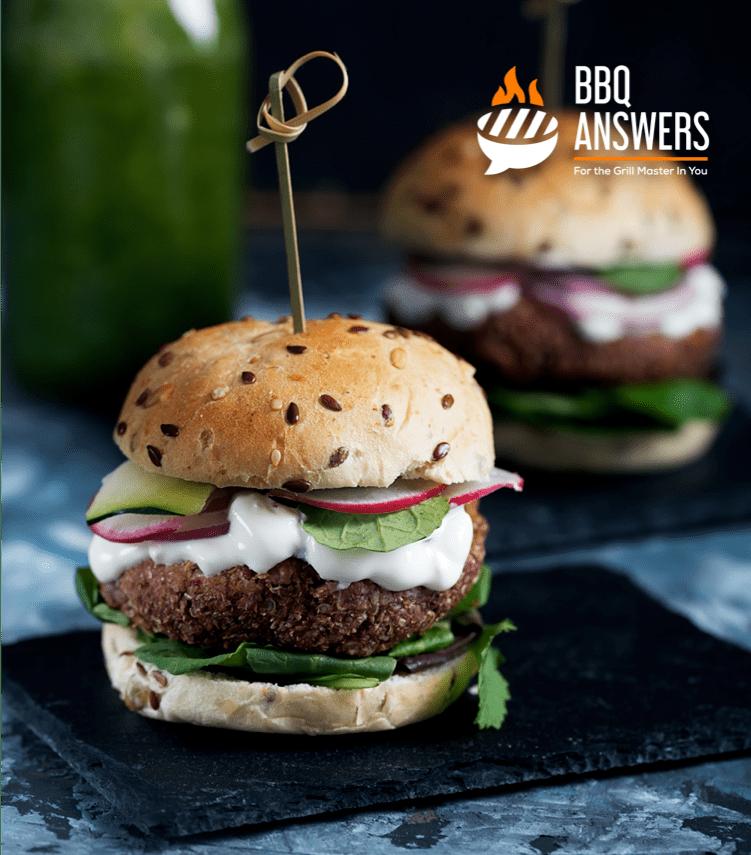 Vegan Falafel Burger   BBQanswers