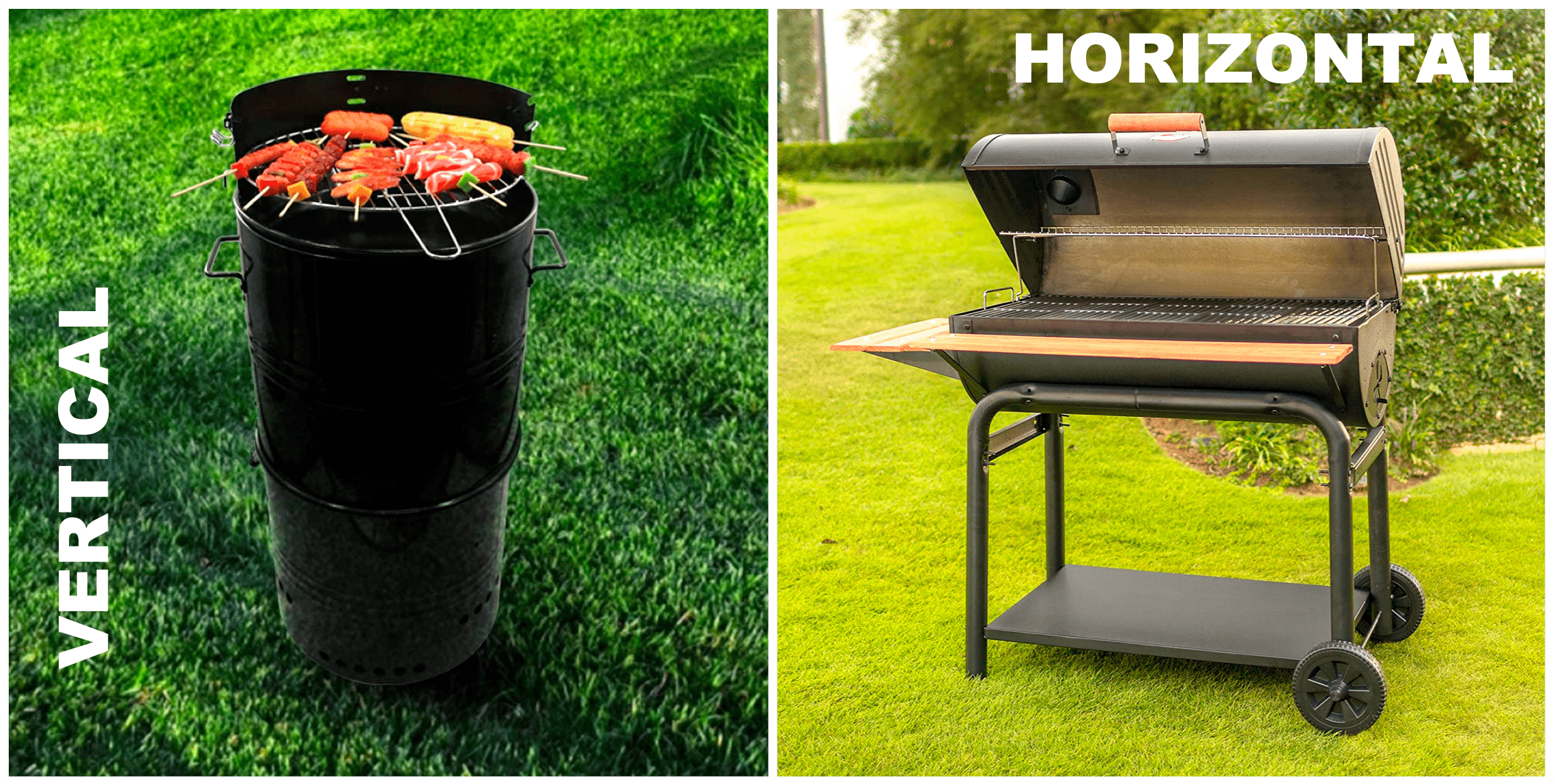 Vertical and Horizontal Oil Drum | BBQanswers